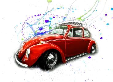vw-beetle-paint-splatter-steve-mckinzie