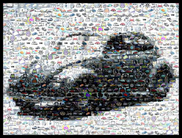vw-bug-volkswagen-mosaic-paul-van-scott