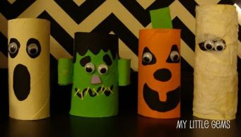 artesanato-halloween-reciclagem-rolo-de-papelao